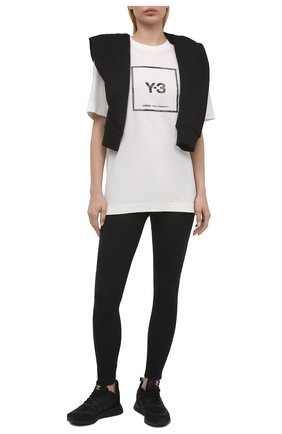Женская хлопковая футболка Y-3 белого цвета, арт. GV6061/W | Фото 2