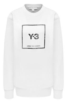 Женский хлопковый свитшот Y-3 белого цвета, арт. GV6058/W | Фото 1