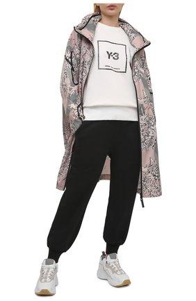 Женский хлопковый свитшот Y-3 белого цвета, арт. GV6058/W | Фото 2