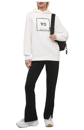 Женский хлопковое худи Y-3 белого цвета, арт. GV6054/W | Фото 2