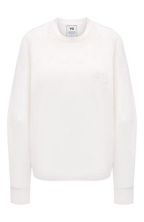 Женский хлопковый свитшот Y-3 белого цвета, арт. GV0337/W | Фото 1