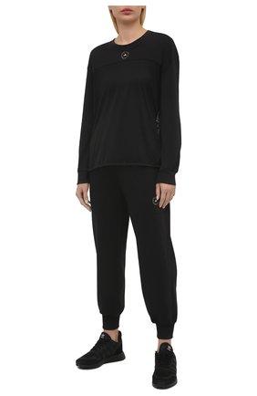 Женская хлопковый лонгслив ADIDAS BY STELLA MCCARTNEY черного цвета, арт. GM5391 | Фото 2