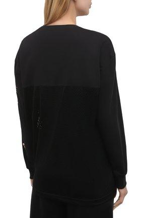 Женская хлопковый лонгслив ADIDAS BY STELLA MCCARTNEY черного цвета, арт. GM5391 | Фото 4 (Женское Кросс-КТ: Лонгслив-спорт, Лонгслив-одежда; Рукава: Длинные; Принт: С принтом; Длина (для топов): Удлиненные; Материал внешний: Хлопок; Стили: Спорт-шик)