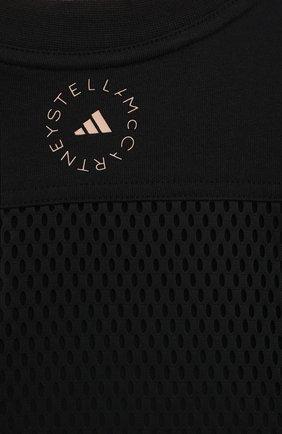 Женская хлопковый лонгслив ADIDAS BY STELLA MCCARTNEY черного цвета, арт. GM5391 | Фото 5 (Женское Кросс-КТ: Лонгслив-спорт, Лонгслив-одежда; Рукава: Длинные; Принт: С принтом; Длина (для топов): Удлиненные; Материал внешний: Хлопок; Стили: Спорт-шик)