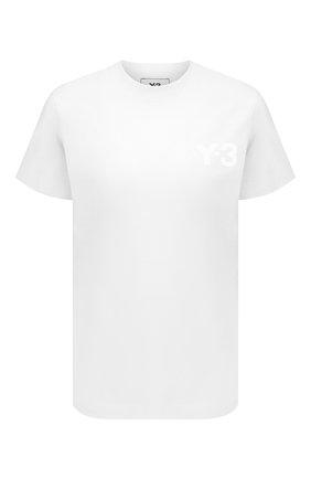 Женская хлопковая футболка Y-3 белого цвета, арт. GM3273/W | Фото 1