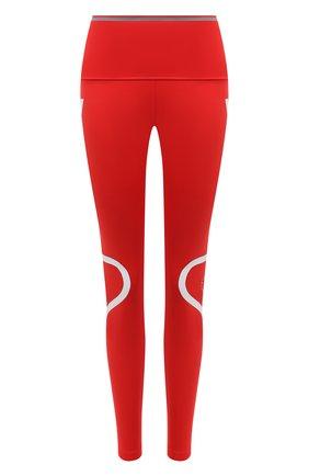 Женские леггинсы ADIDAS BY STELLA MCCARTNEY красного цвета, арт. GL7380 | Фото 1