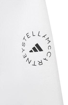 Женская футболка ADIDAS BY STELLA MCCARTNEY белого цвета, арт. GL7339   Фото 5 (Женское Кросс-КТ: Футболка-спорт, Футболка-одежда; Рукава: Короткие; Материал внешний: Синтетический материал, Хлопок; Принт: С принтом; Стили: Спорт-шик; Длина (для топов): Укороченные)