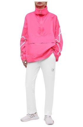 Женские хлопковые брюки ADIDAS BY STELLA MCCARTNEY белого цвета, арт. GL5820 | Фото 2