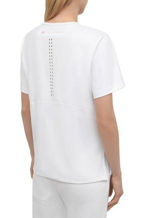 Женская футболка ADIDAS BY STELLA MCCARTNEY белого цвета, арт. GL5270 | Фото 4 (Женское Кросс-КТ: Футболка-спорт, Футболка-одежда; Рукава: Короткие; Материал внешний: Синтетический материал; Длина (для топов): Стандартные; Принт: С принтом; Стили: Спорт-шик)