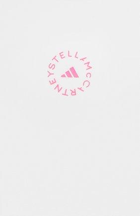 Женская футболка ADIDAS BY STELLA MCCARTNEY белого цвета, арт. GL5270 | Фото 5 (Женское Кросс-КТ: Футболка-спорт, Футболка-одежда; Рукава: Короткие; Материал внешний: Синтетический материал; Длина (для топов): Стандартные; Принт: С принтом; Стили: Спорт-шик)