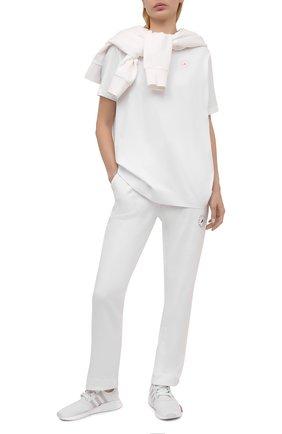 Женская хлопковая футболка ADIDAS BY STELLA MCCARTNEY белого цвета, арт. GL5268 | Фото 2