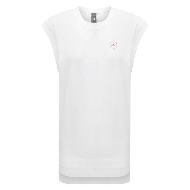 Хлопковая футболка adidas by Stella McCartney