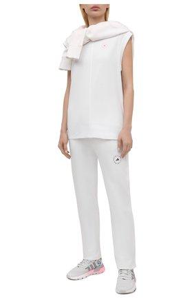 Женская хлопковая футболка ADIDAS BY STELLA MCCARTNEY белого цвета, арт. GL4302 | Фото 2