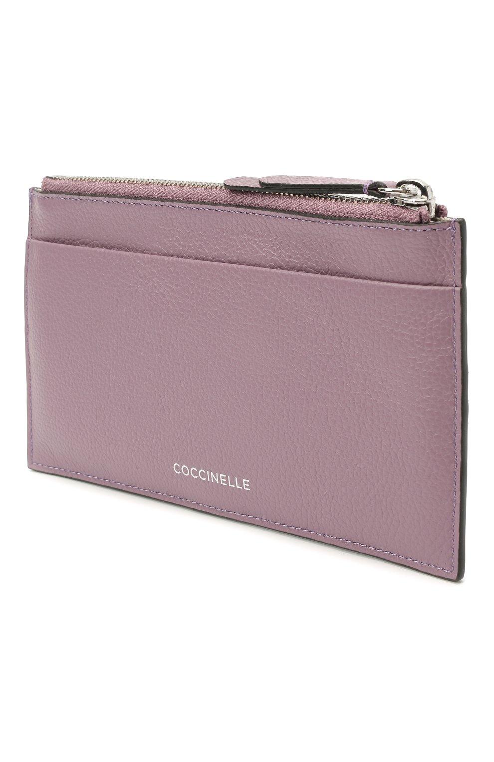 Женский кожаный футляр для кредитный карт COCCINELLE разноцветного цвета, арт. E5 HV1 19 D1 16   Фото 2