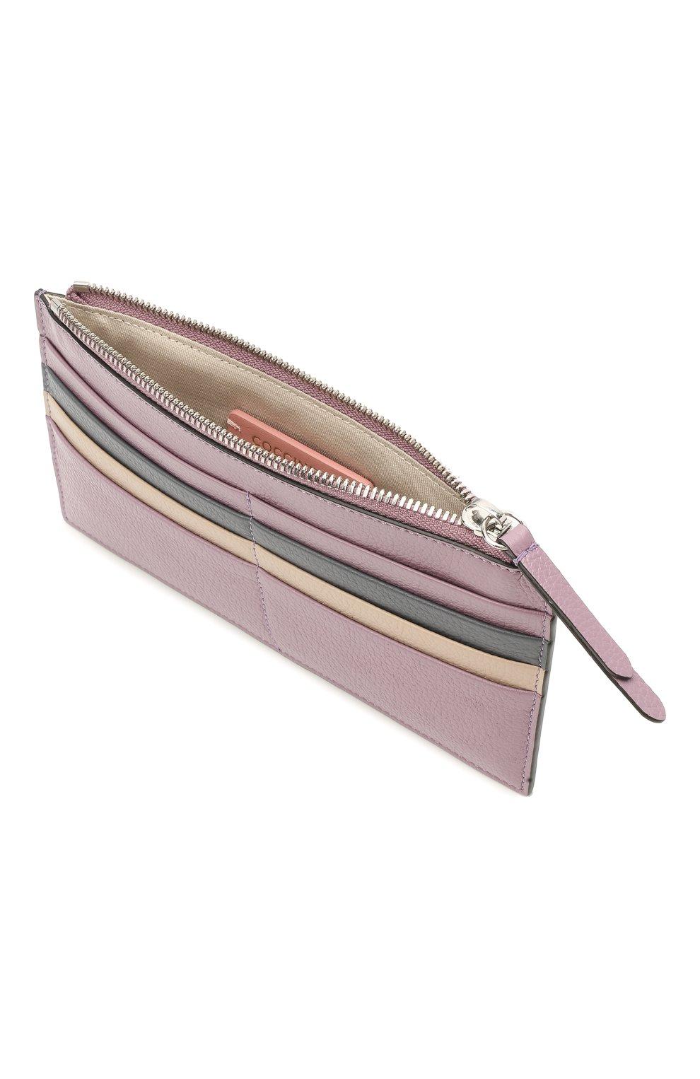 Женский кожаный футляр для кредитный карт COCCINELLE разноцветного цвета, арт. E5 HV1 19 D1 16   Фото 3