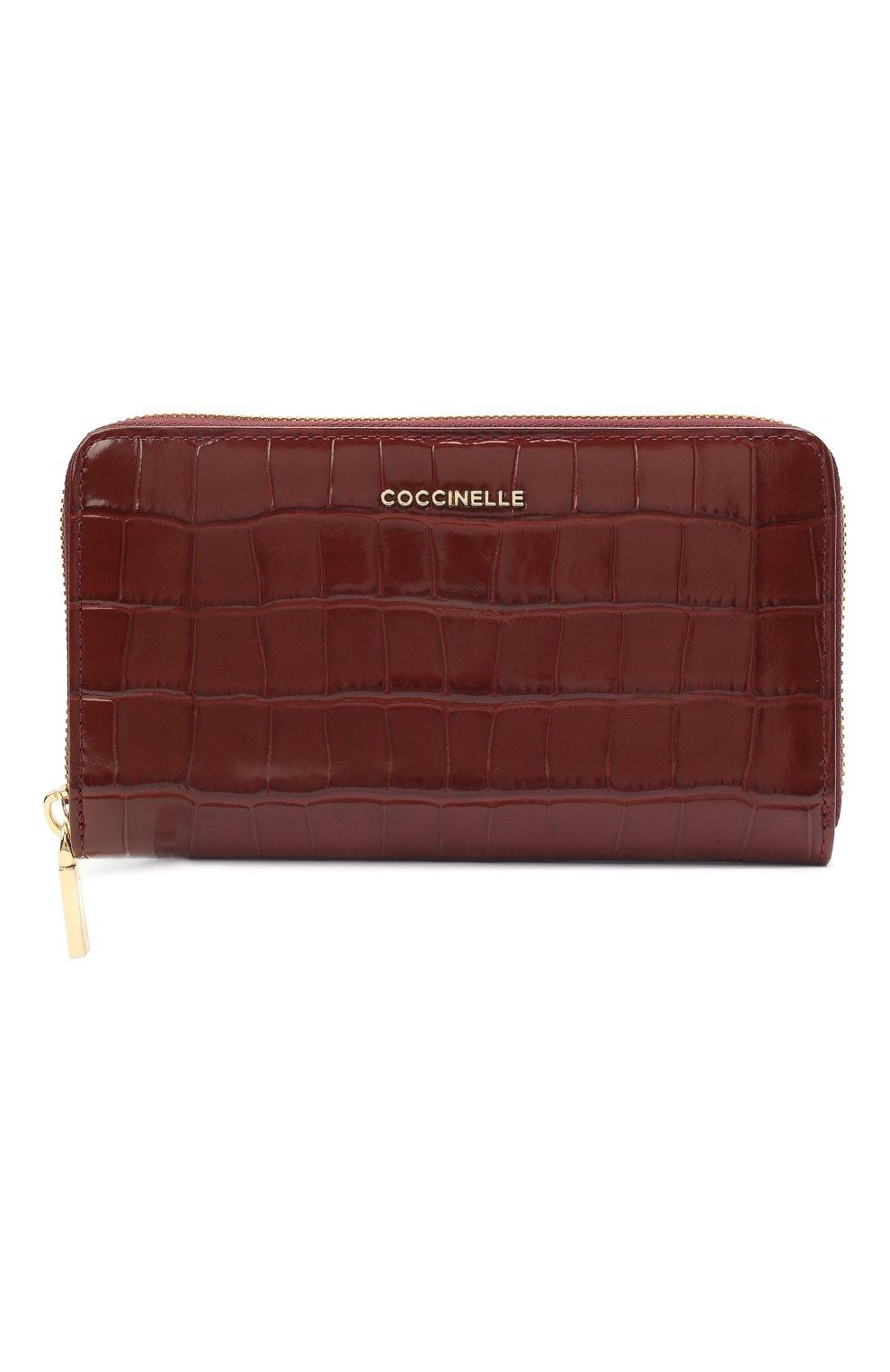 Женские кожаный кошелек COCCINELLE бордового цвета, арт. E2 HW6 11 32 01 | Фото 1