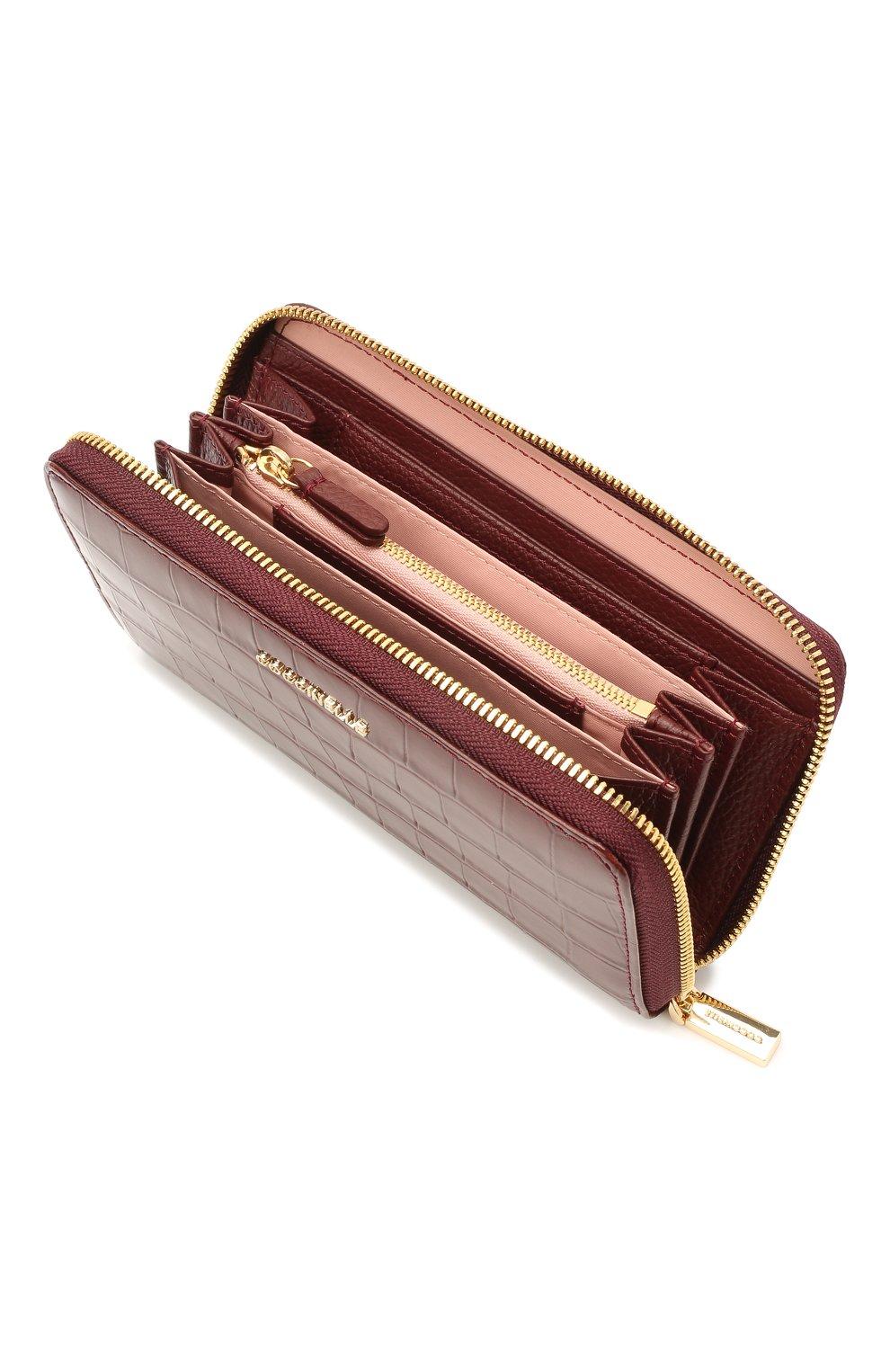 Женские кожаный кошелек COCCINELLE бордового цвета, арт. E2 HW6 11 32 01 | Фото 3