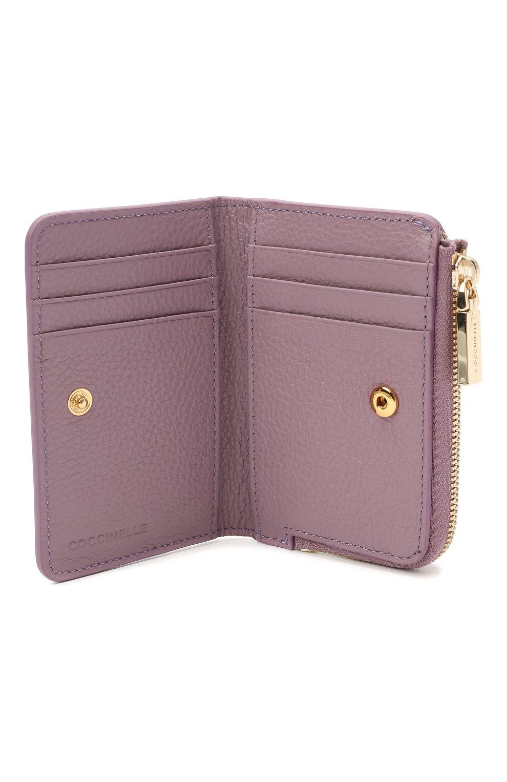 Женские кожаный кошелек COCCINELLE сиреневого цвета, арт. E2 HW5 17 01 01   Фото 3