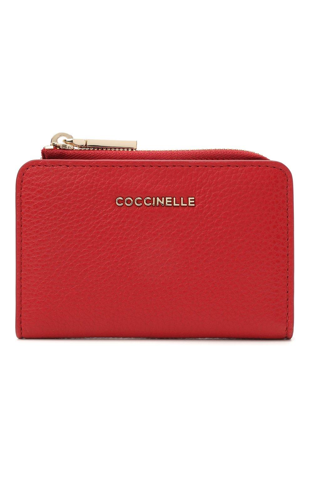 Женские кожаный кошелек COCCINELLE красного цвета, арт. E2 HW5 17 01 01 | Фото 1