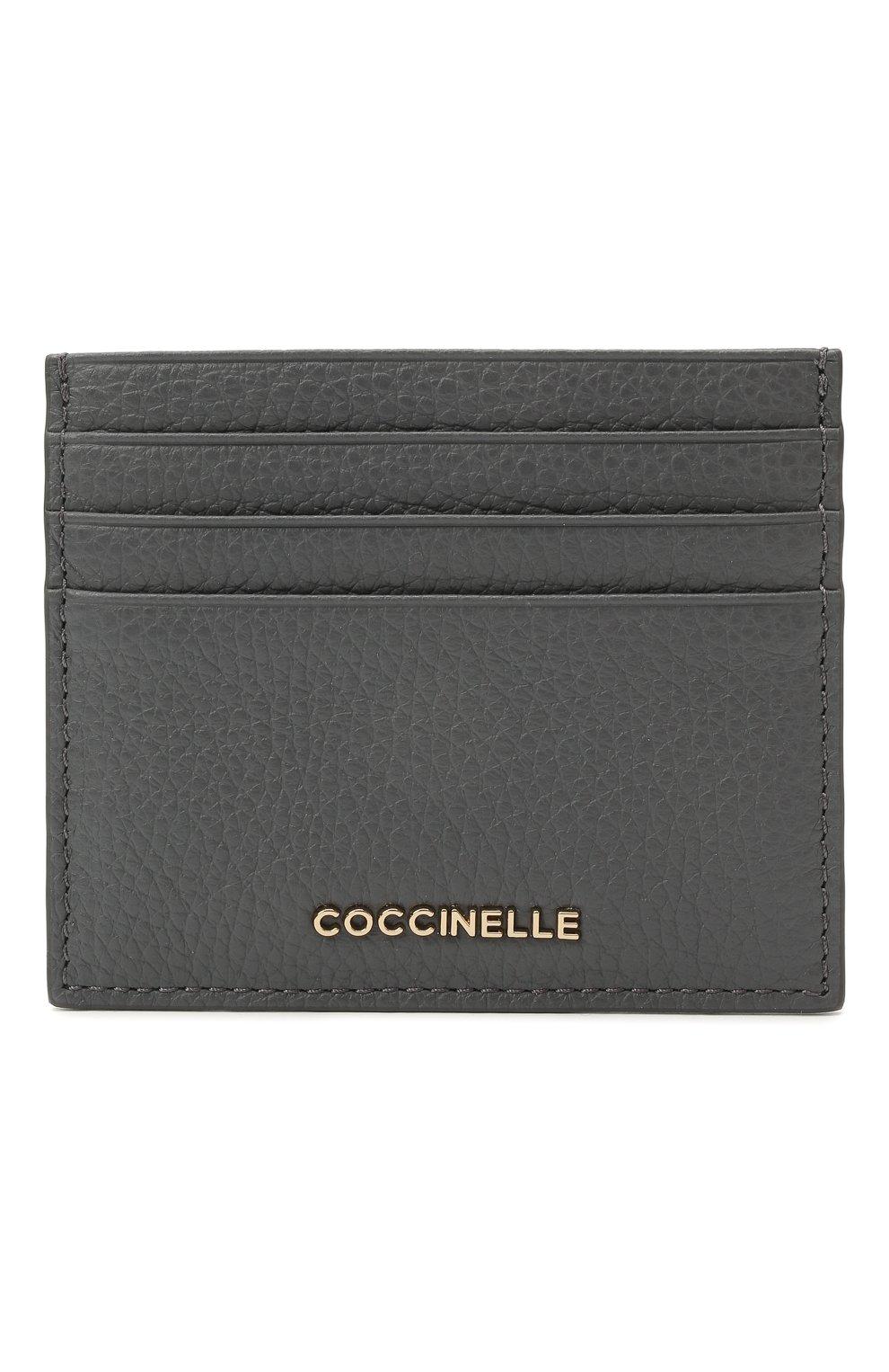 Женский кожаный футляр для кредитных карт COCCINELLE серого цвета, арт. E2 HW5 12 95 01 | Фото 1