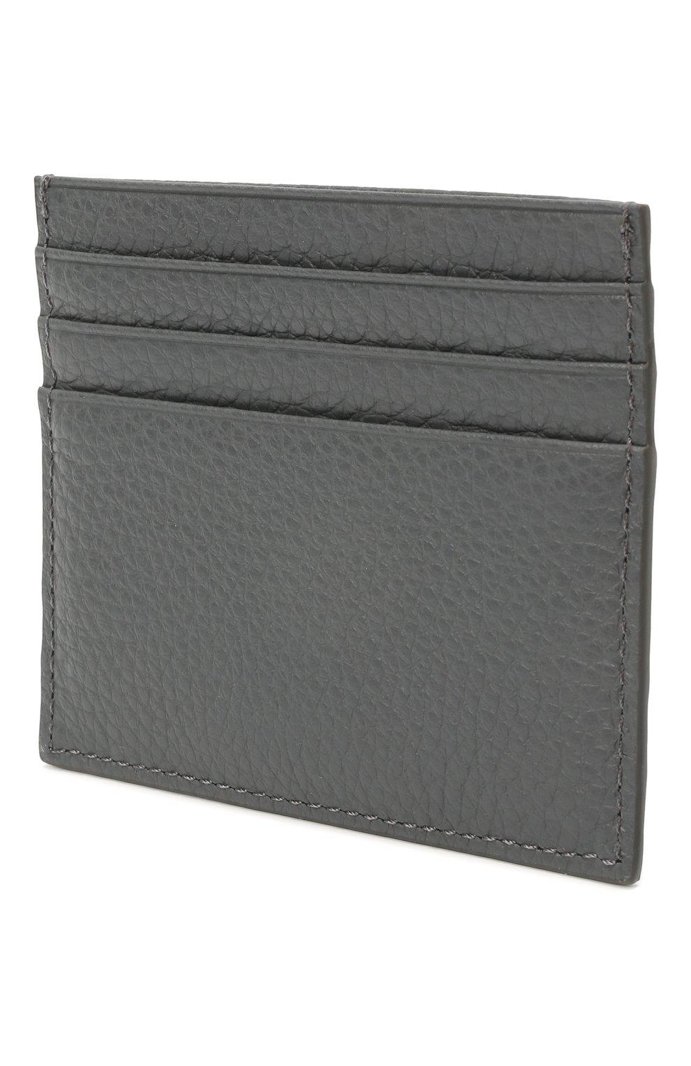 Женский кожаный футляр для кредитных карт COCCINELLE серого цвета, арт. E2 HW5 12 95 01 | Фото 2