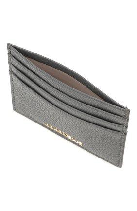 Женский кожаный футляр для кредитных карт COCCINELLE серого цвета, арт. E2 HW5 12 95 01 | Фото 3