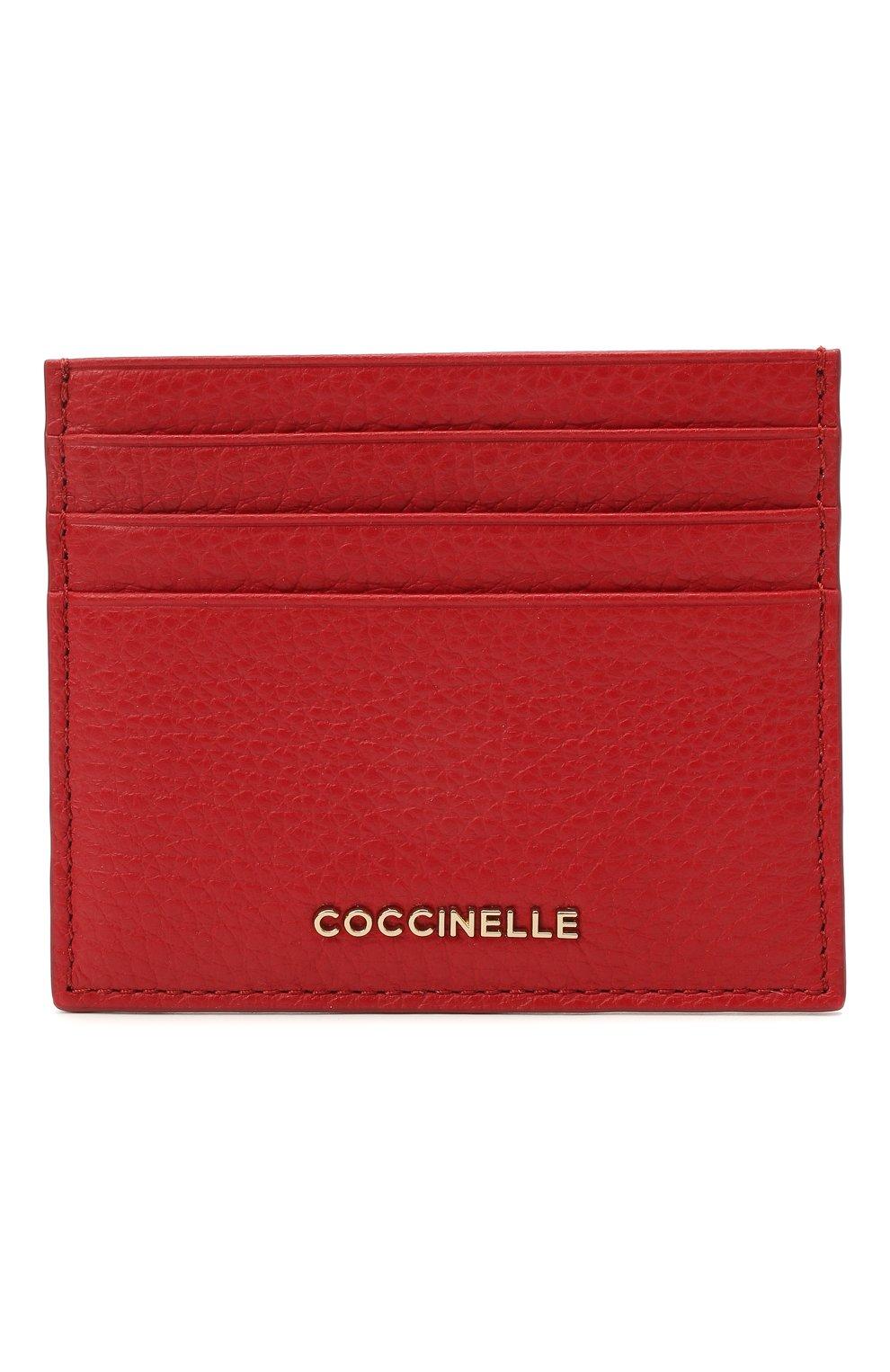 Женский кожаный футляр для кредитных карт COCCINELLE красного цвета, арт. E2 HW5 12 95 01   Фото 1