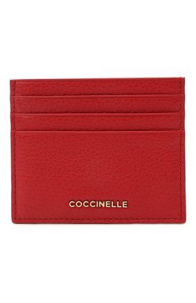 Женский кожаный футляр для кредитных карт COCCINELLE красного цвета, арт. E2 HW5 12 95 01 | Фото 1