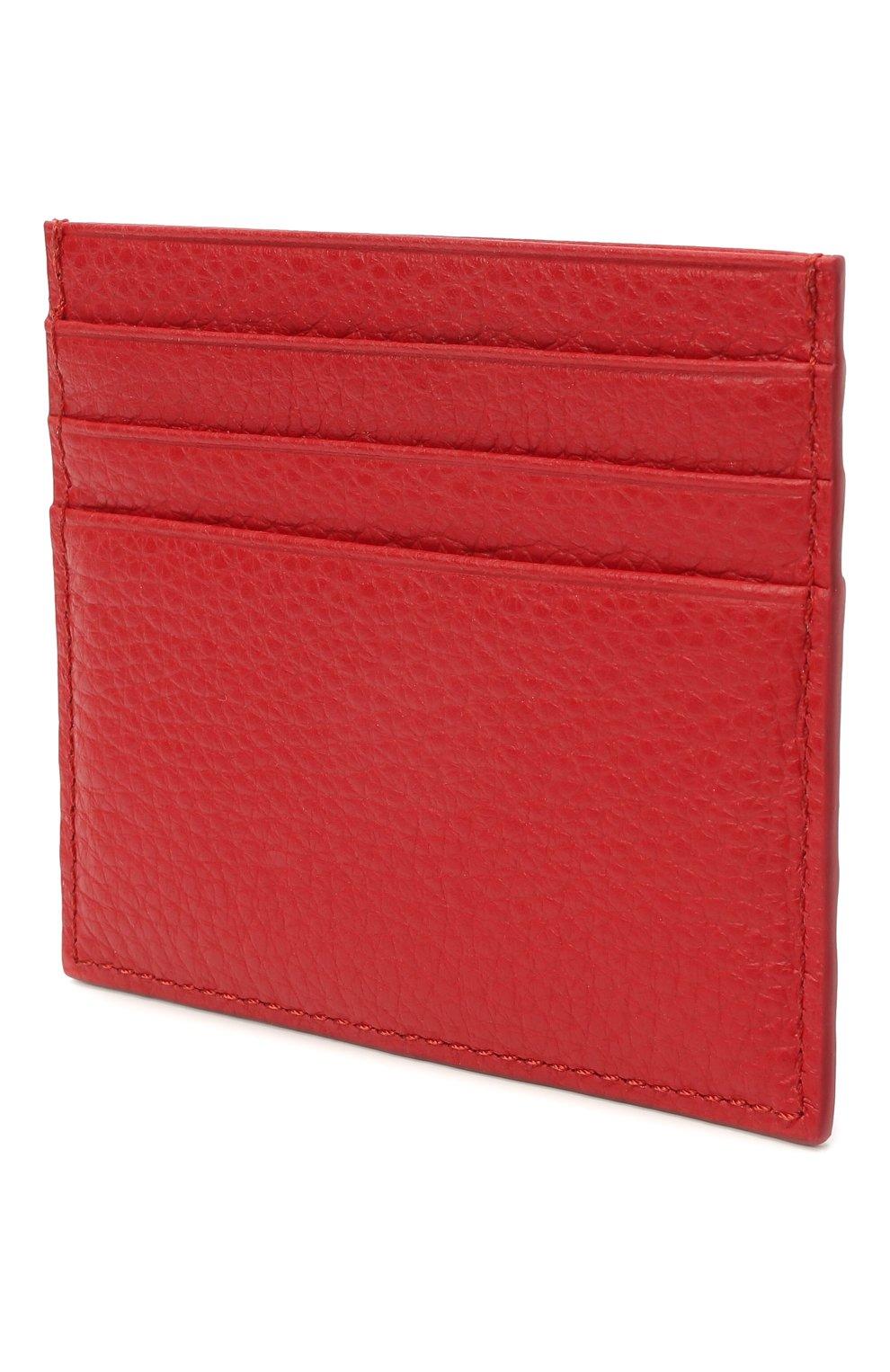Женский кожаный футляр для кредитных карт COCCINELLE красного цвета, арт. E2 HW5 12 95 01   Фото 2
