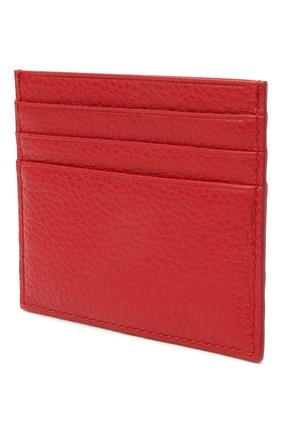 Женский кожаный футляр для кредитных карт COCCINELLE красного цвета, арт. E2 HW5 12 95 01 | Фото 2