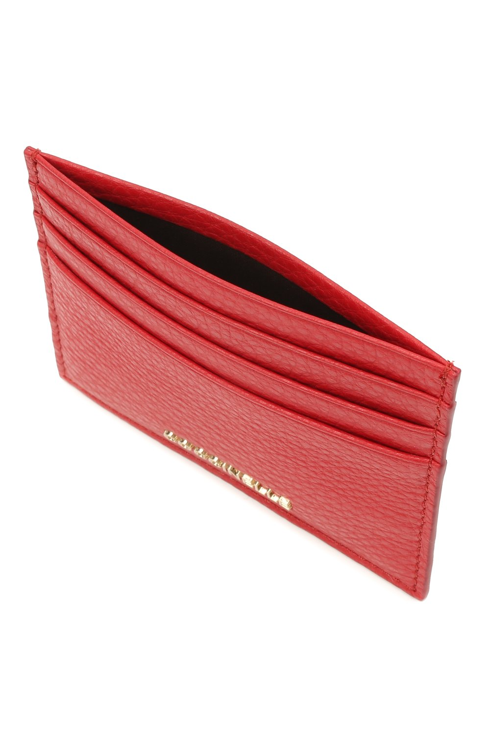 Женский кожаный футляр для кредитных карт COCCINELLE красного цвета, арт. E2 HW5 12 95 01   Фото 3