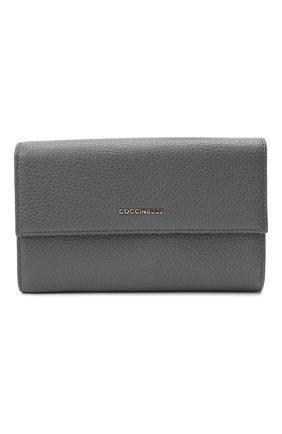 Женские кожаный кошелек COCCINELLE серого цвета, арт. E2 HW5 11 85 01   Фото 1
