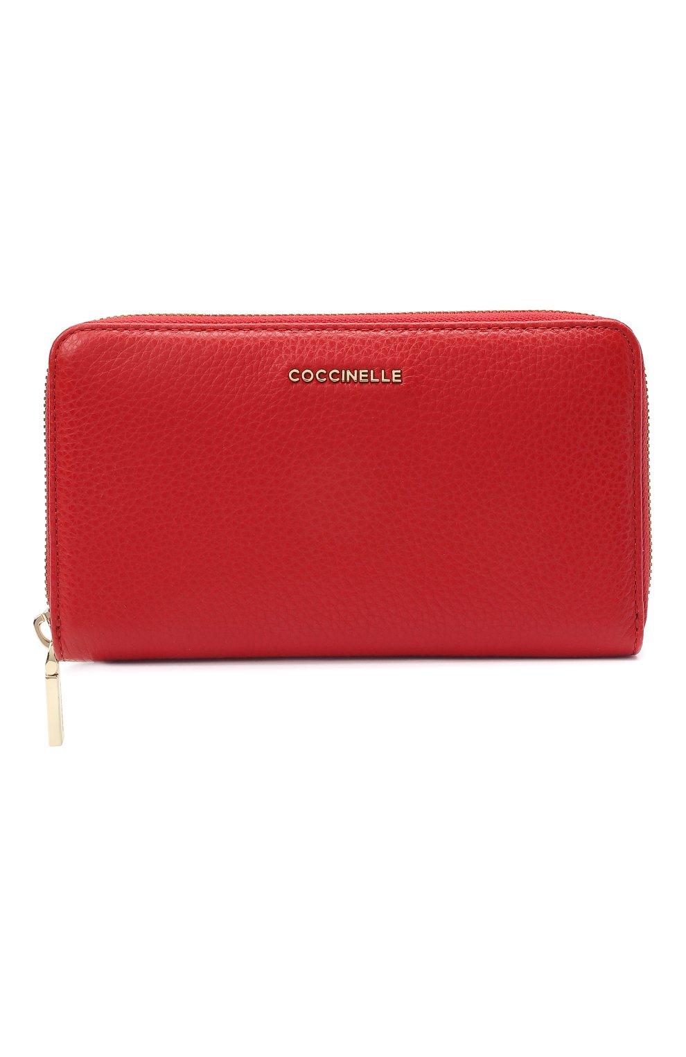 Женские кожаный кошелек COCCINELLE красного цвета, арт. E2 HW5 11 32 01 | Фото 1