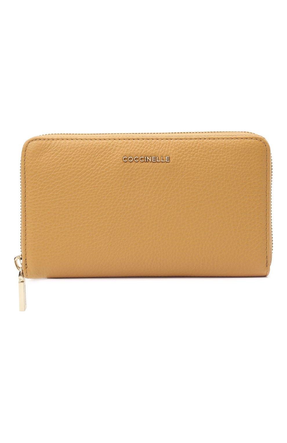 Женские кожаный кошелек COCCINELLE бежевого цвета, арт. E2 HW5 11 32 01 | Фото 1