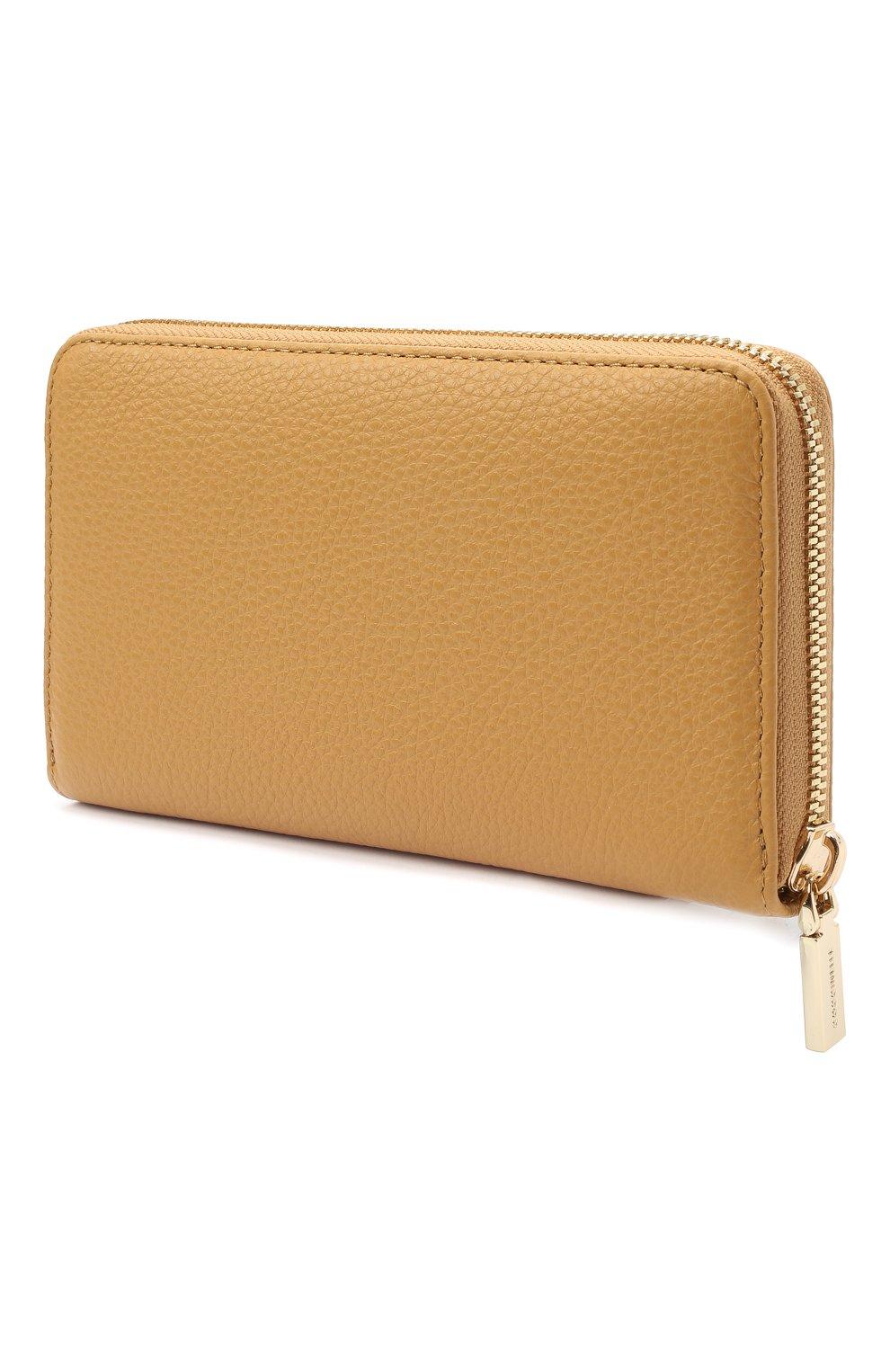 Женские кожаный кошелек COCCINELLE бежевого цвета, арт. E2 HW5 11 32 01 | Фото 2