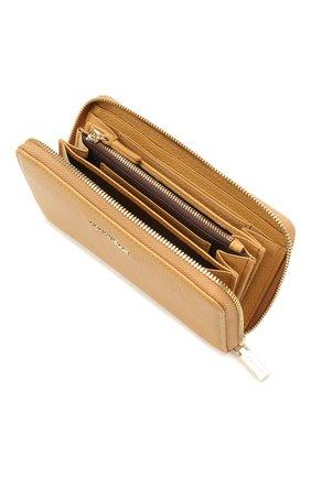 Женские кожаный кошелек COCCINELLE бежевого цвета, арт. E2 HW5 11 32 01 | Фото 3