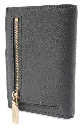 Женские кожаный кошелек COCCINELLE серого цвета, арт. E2 HR0 11 B1 01   Фото 2