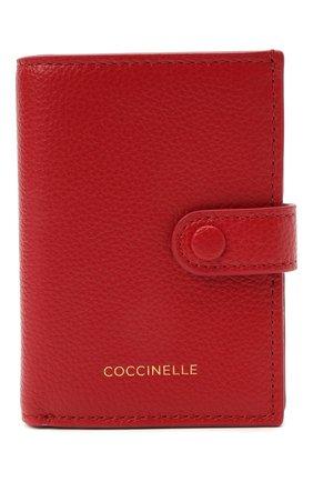 Женские кожаный кошелек COCCINELLE красного цвета, арт. E2 HR0 11 B1 01 | Фото 1
