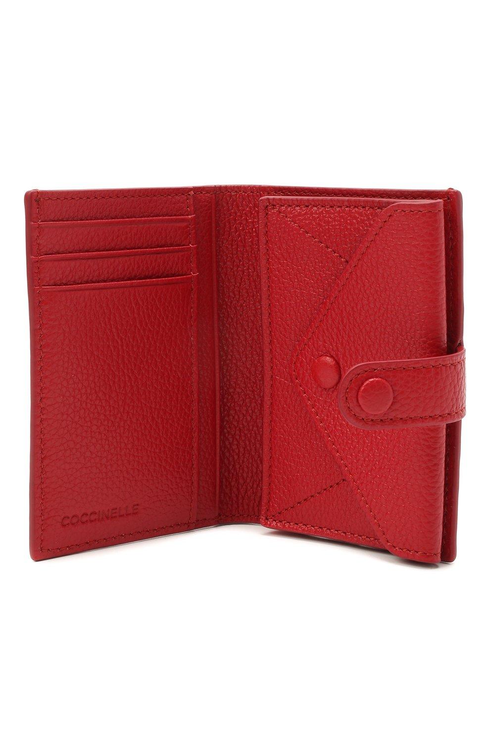 Женские кожаный кошелек COCCINELLE красного цвета, арт. E2 HR0 11 B1 01 | Фото 3
