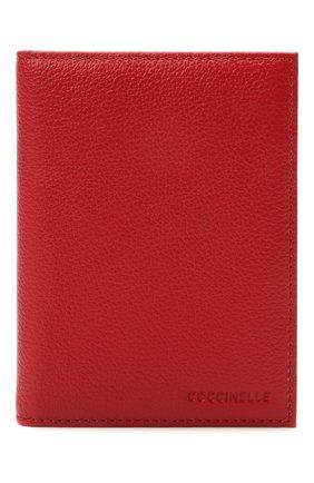 Женские кожаная обложка для паспорта COCCINELLE красного цвета, арт. E2 HL0 12 91 01 | Фото 1