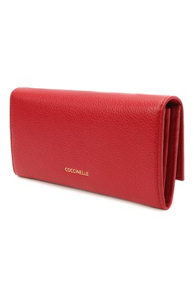 Женские кожаный кошелек COCCINELLE красного цвета, арт. E2 HI5 11 03 01 | Фото 2
