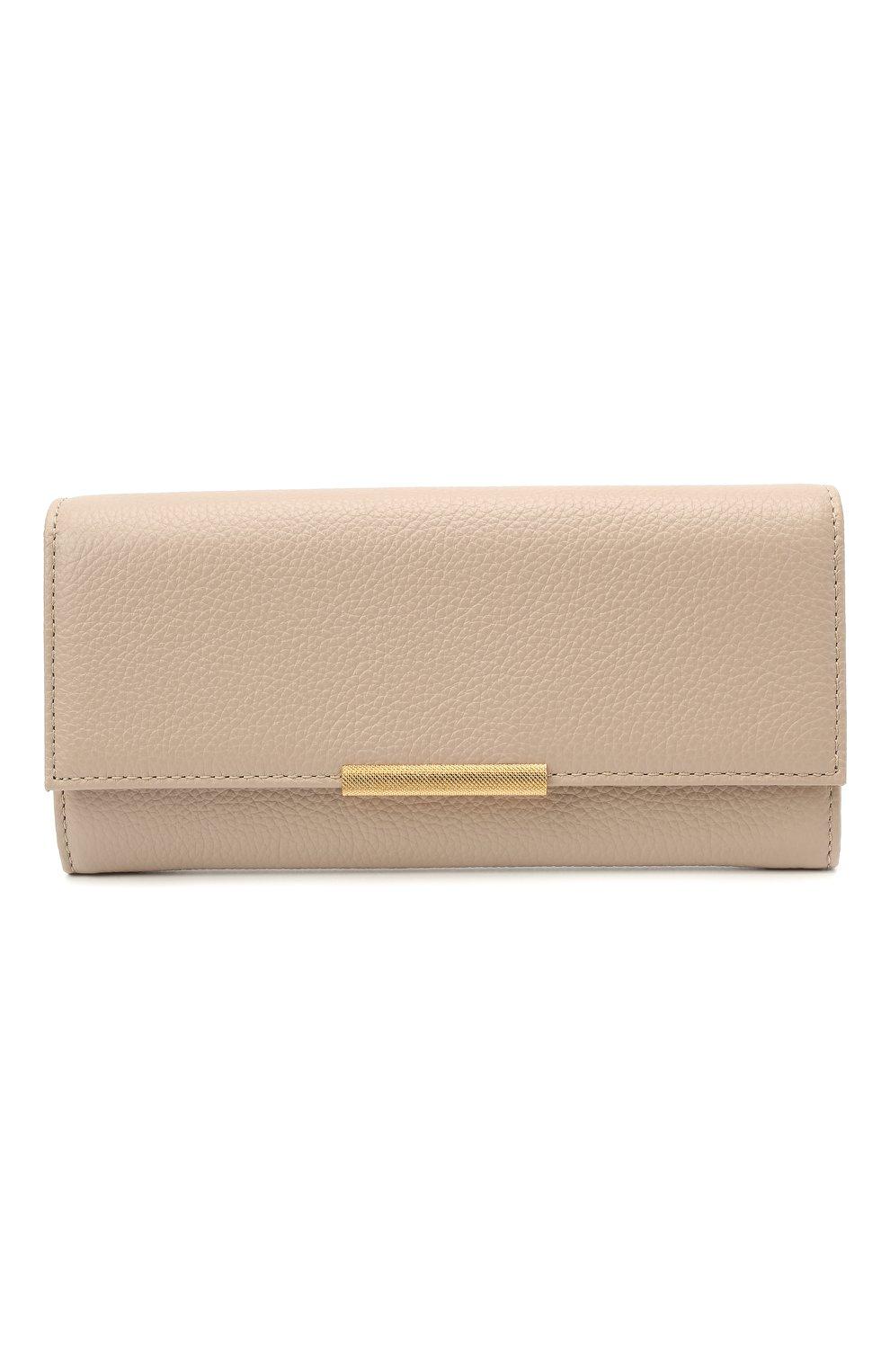 Женские кожаный кошелек COCCINELLE бежевого цвета, арт. E2 HI5 11 03 01 | Фото 1