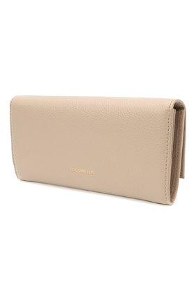 Женские кожаный кошелек COCCINELLE бежевого цвета, арт. E2 HI5 11 03 01 | Фото 2