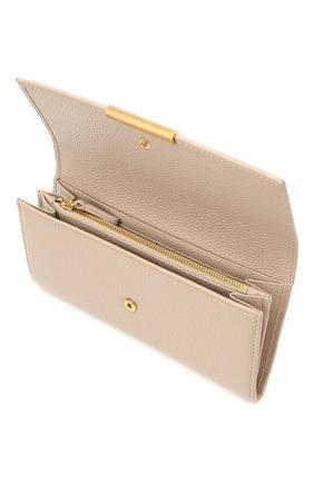 Женские кожаный кошелек COCCINELLE бежевого цвета, арт. E2 HI5 11 03 01 | Фото 3