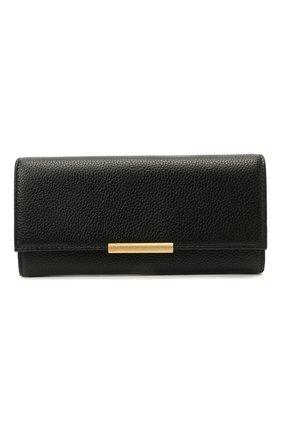 Женские кожаный кошелек COCCINELLE черного цвета, арт. E2 HI5 11 03 01   Фото 1