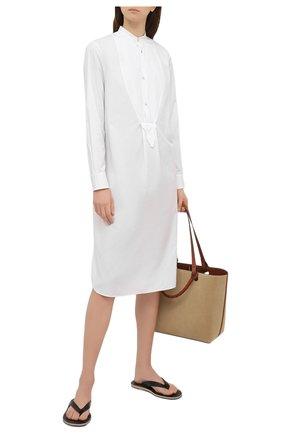 Женское хлопковое платье RALPH LAUREN белого цвета, арт. 290842929 | Фото 2