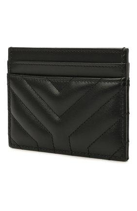 Женский кожаный футляр для кредитных карт SAINT LAURENT черного цвета, арт. 650954/DV701 | Фото 2