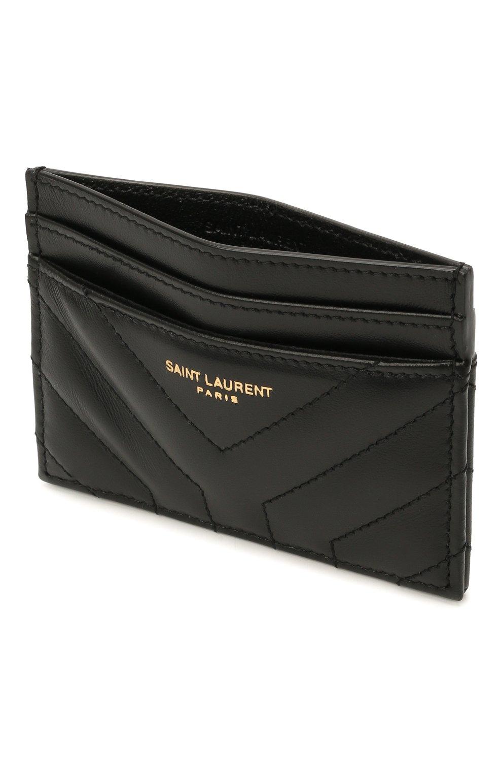 Женский кожаный футляр для кредитных карт SAINT LAURENT черного цвета, арт. 650954/DV701 | Фото 3