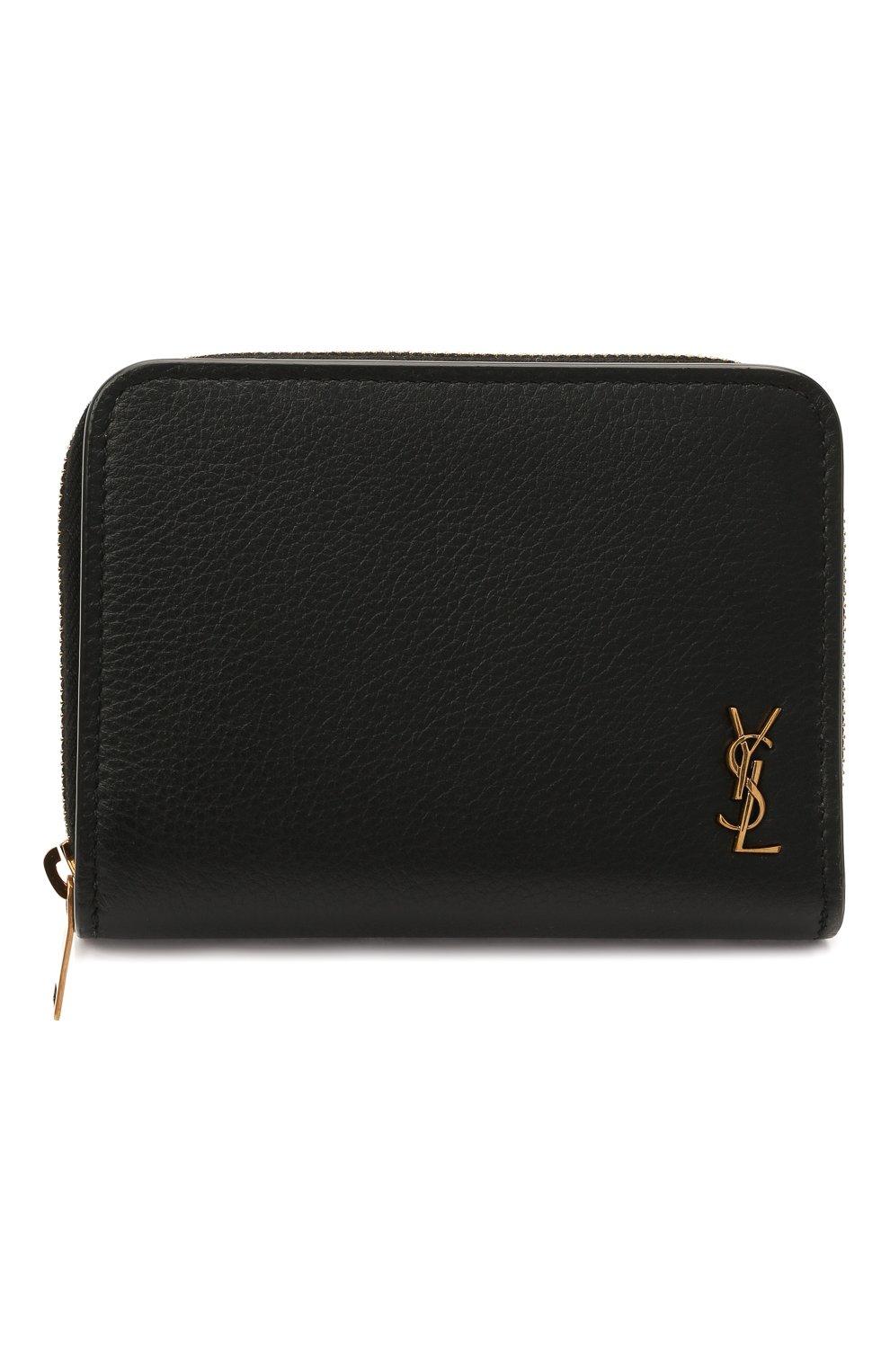 Женские кожаное портмоне SAINT LAURENT черного цвета, арт. 635263/15B0W | Фото 1