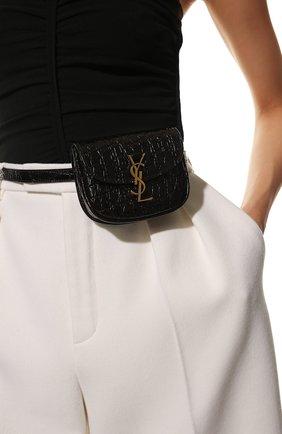 Женская поясная сумка SAINT LAURENT черного цвета, арт. 634922/1ZQ0W | Фото 2